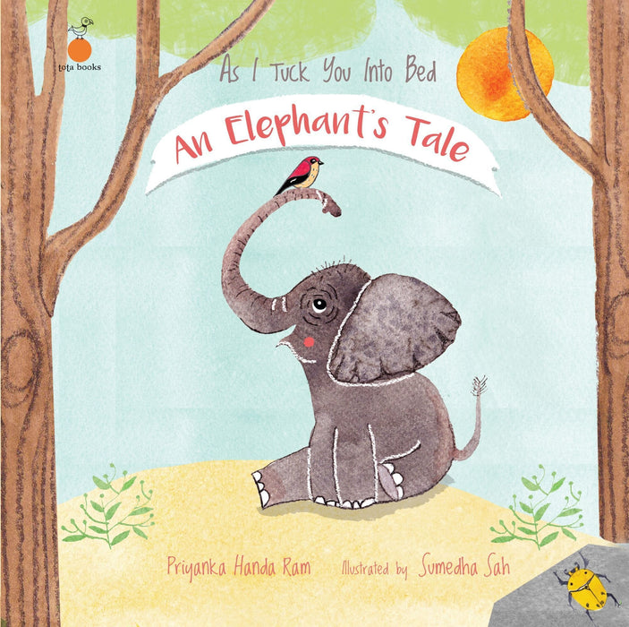 The Nestery: Tota Books - AS I TUCK YOU INTO BED: AN ELEPHANT'S TALE-FRONT COVER