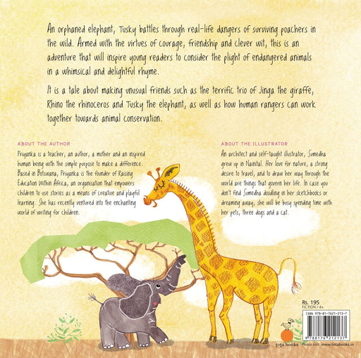 The Nestery: Tota Books - AS I TUCK YOU INTO BED: AN ELEPHANT'S TALE-BACK COVER