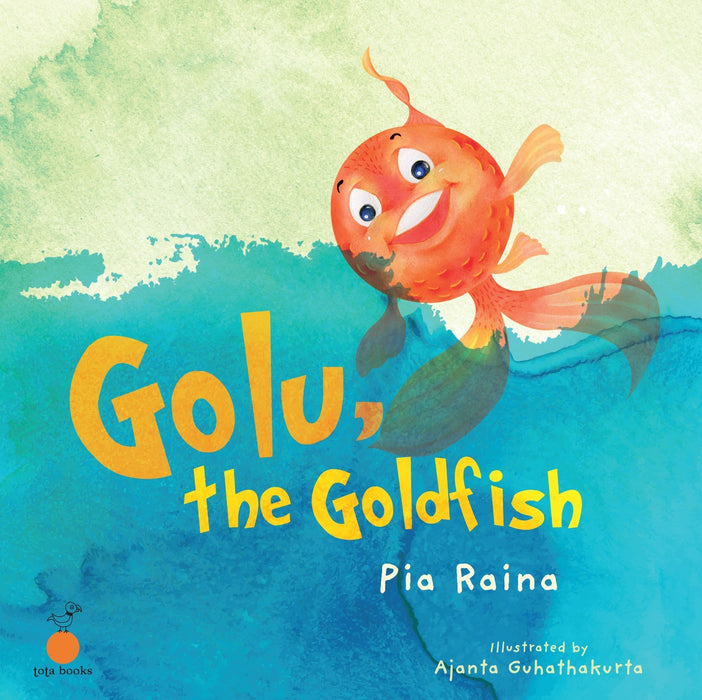The Nestery: Tota Books - GOLU,THE GOLDFISH-FRONT COVER