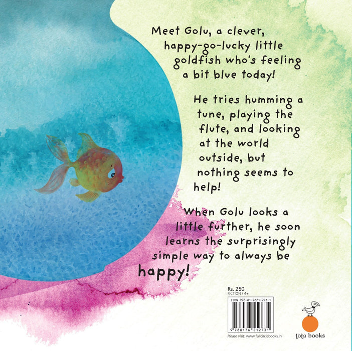 The Nestery: Tota Books - GOLU,THE GOLDFISH-BACK COVER