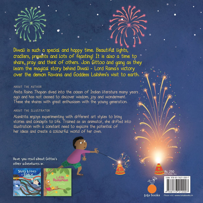 The Nestery: Tota Books - HURRAY FOR DIWALI!-BACK COVER