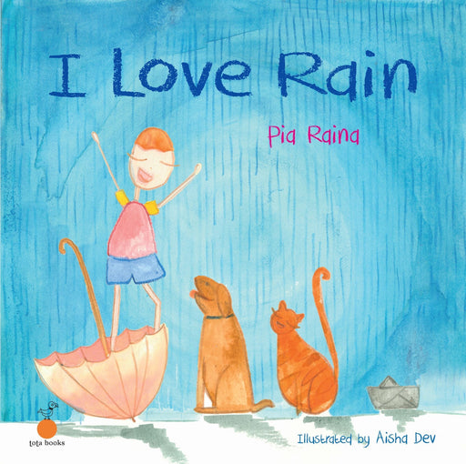 The Nestery: Tota Books - I LOVE RAIN-FRONT COVER