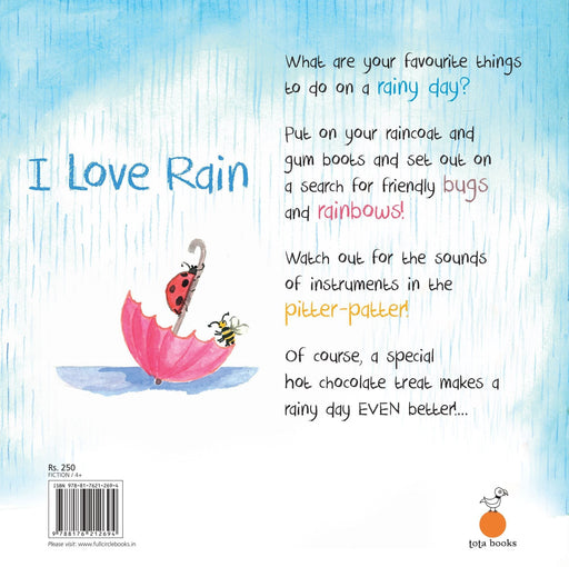 The Nestery: Tota Books - I LOVE RAIN-BACK COVER