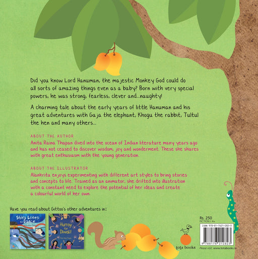 The Nestery: Tota Books - LITTLE HANUMAN-BACK COVER