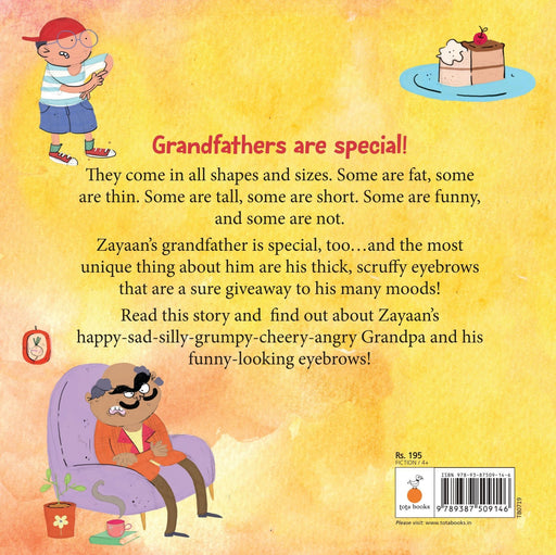 The Nestery: Tota Books - MY GRANDFATHER'S FUNNY EYEBROWS-BACK COVER
