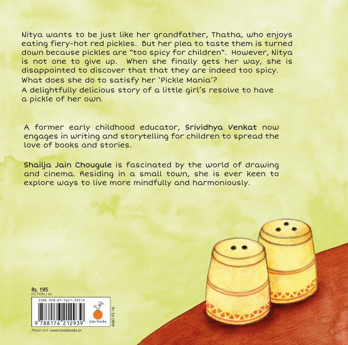 The Nestery: Tota Books - PICKLE MANIA-BACK COVER