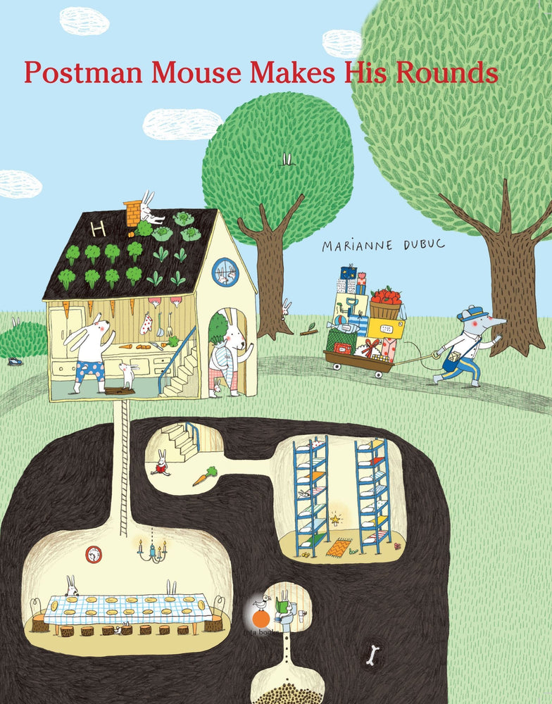 The Nestery: Tota Books - POSTMAN MOUSE MAKES HIS ROUNDS-FRONT COVER