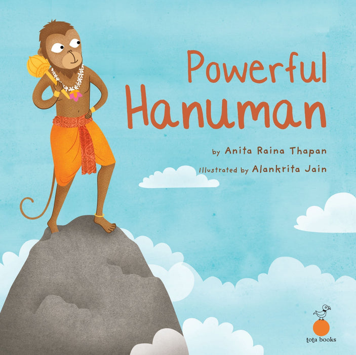 The Nestery: Tota Books - POWERFUL HANUMAN-FRONT COVER