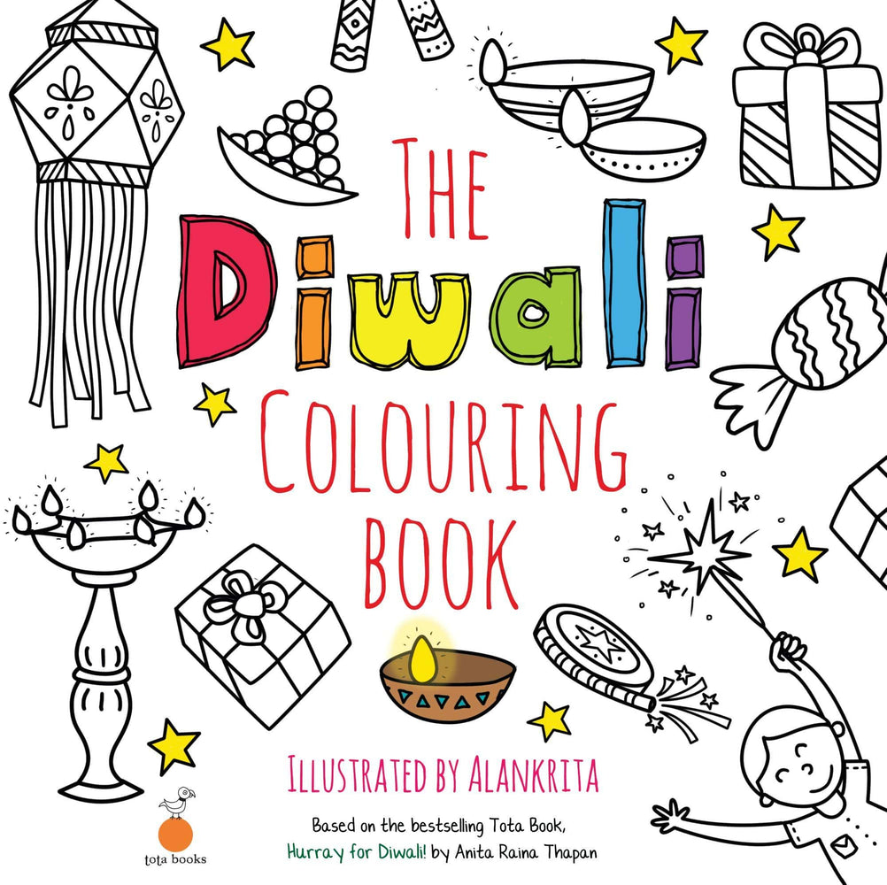 The Nestery: Tota Books - THE  DIWALI COLOURING BOOK-FRONT COVER