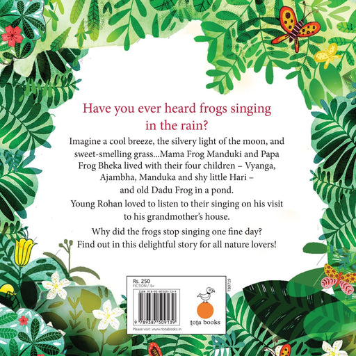 The Nestery: Tota Books - THE FROGS WHO LOVED TO SING -BACK COVER