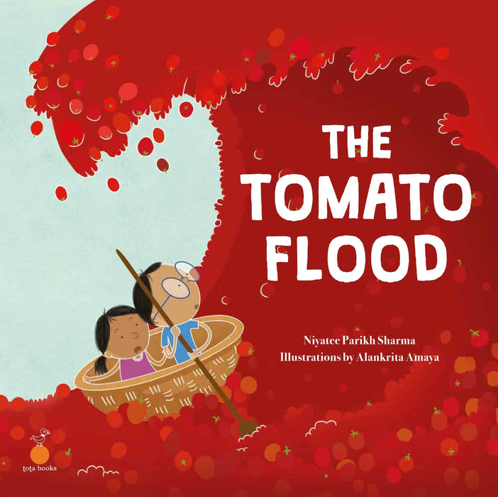 The Nestery: Tota Books - THE TOMATO FLOOD-FRONT COVER