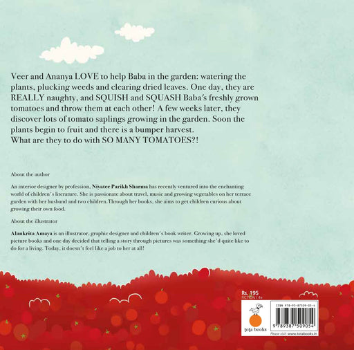 The Nestery: Tota Books - THE TOMATO FLOOD-BACK COVER