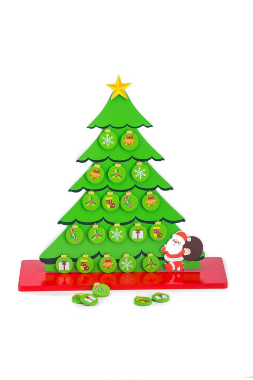 The Nestery: Toyroom Toys - Eco Friendly Christmas Tree With Ornaments (Wooden & Magnetic Table Top Tree)