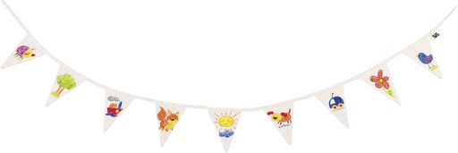 The Nestery: Toyroom Toys - Paint It Yourself - Plain White Bunting/ Flag Garland