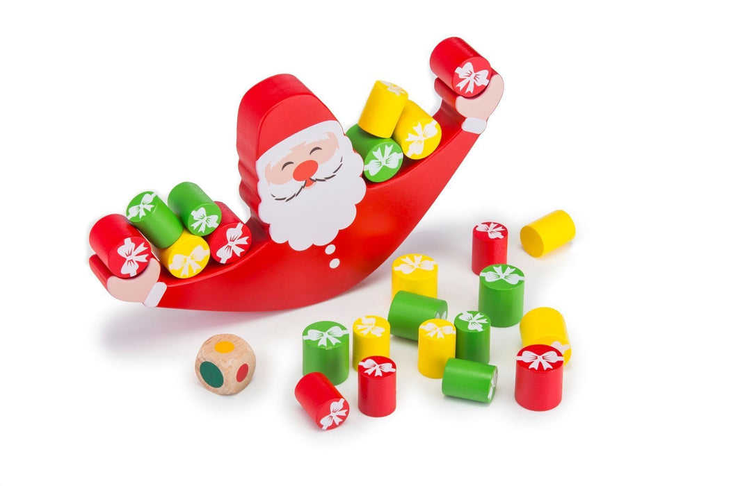 The Nestery: Toyroom Toys - Wobbly Wooden Balancing Santa Game