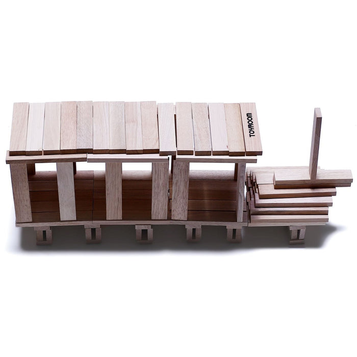 The Nestery: Toyroom Toys - Wooden Planks / Building Bricks (100 Pieces)