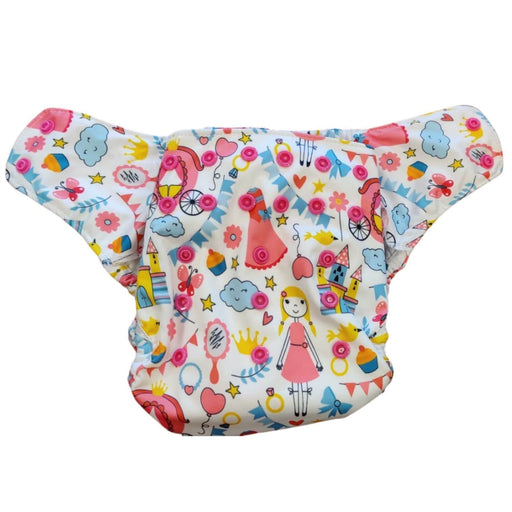The Nestery : Green Diapers - Diwas Diaper Cover - Princess Diaries