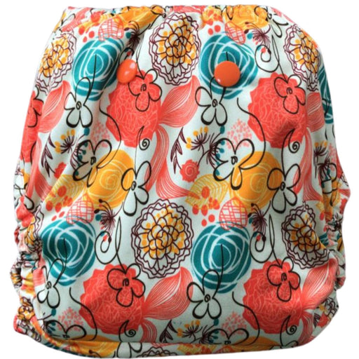 The Nestery : Green Diapers - Diwas Diaper Cover - Ringa Ringa Roses