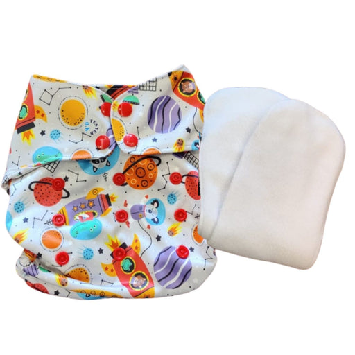 The Nestery : Green Diapers - Diwas Diaper Cover - Rocketeer