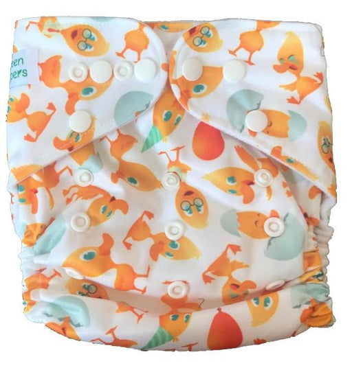 The Nestery: Tushions - Gd Pocket Diaper - Ducklings Day Out