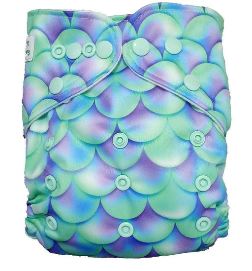 The Nestery: Tushions - Gd Pocket Diaper - Mermaid