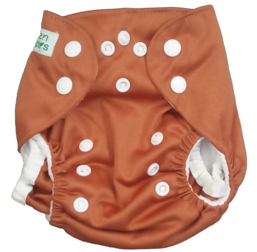 The Nestery: Tushions - Newborn Pocket Diaper - Brown