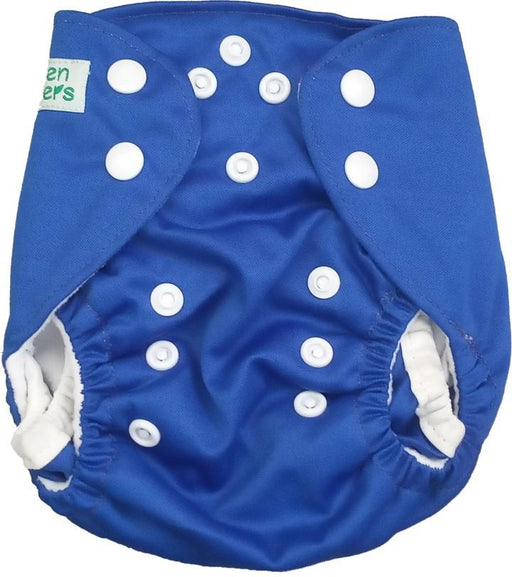 The Nestery: Tushions - Newborn Pocket Diaper - Dark Blue