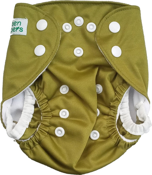 The Nestery: Tushions - Newborn Pocket Diaper - Olive Green