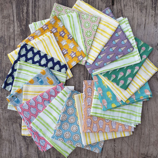 The Nestery : Welobaby - Hankies - Assorted Set Of 4