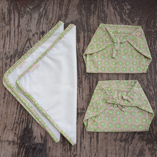 The Nestery : Welobaby - Mini Infant Gift Set - Nappy (2) + Flats Flats (2)