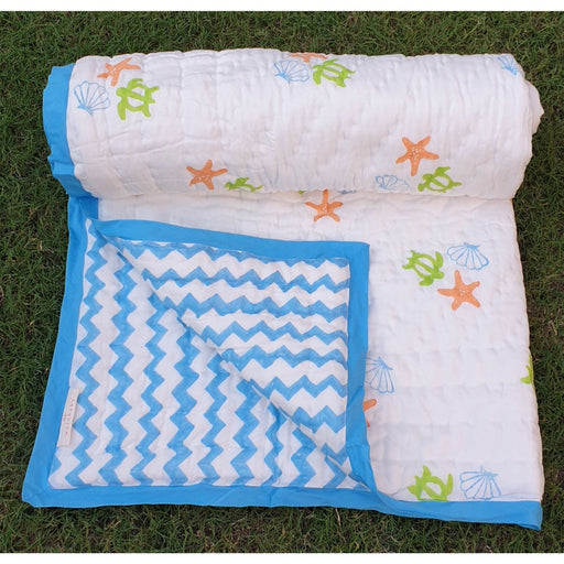 The Nestery : Welobaby - Organic Cotton Quilt - Blue