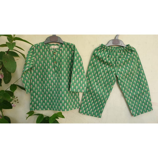 The Nestery : Welobaby - PJ Set - Green Ice Cream