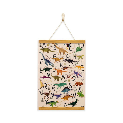 The Nestery: Wild Paper - A - Z Dinosaurs - Non Tearable Poster (With Magnetic Frame)