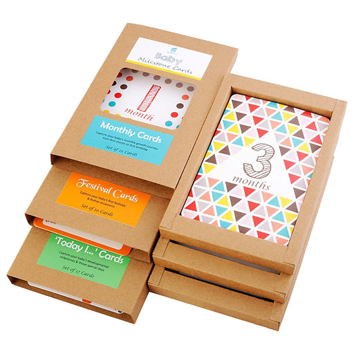 The Nestery : Wonderhood - Gift Set: Baby's Milestone Cards - Monthly, First Festivals And Key Milestones