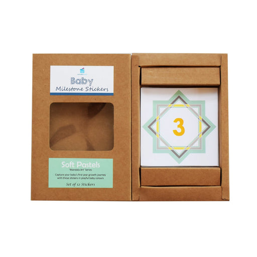 The Nestery : Wonderhood - Gift Set: Baby's Monthly Milestone Belly Sticker - Soft Pastels