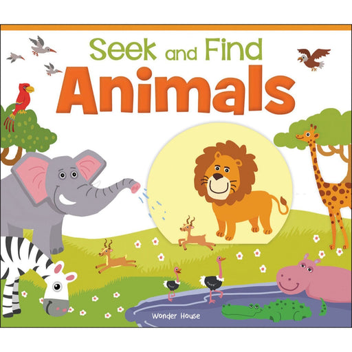 Wonder House Books -Seek And Find - Animals : Early Learning Board Books With Tabs