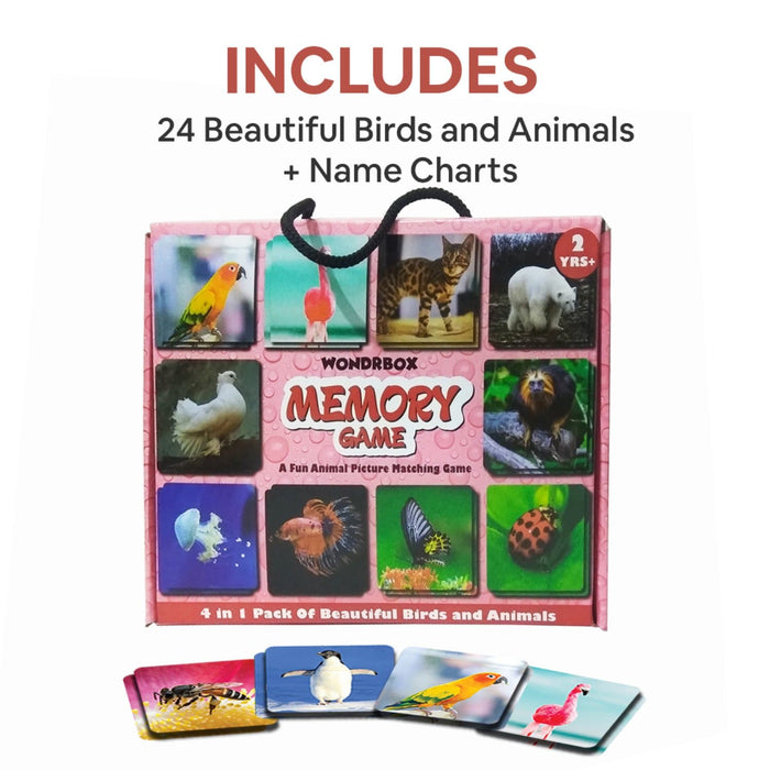 Animals and Birds Card Matching Memory Game - Multipack (2 Years+)