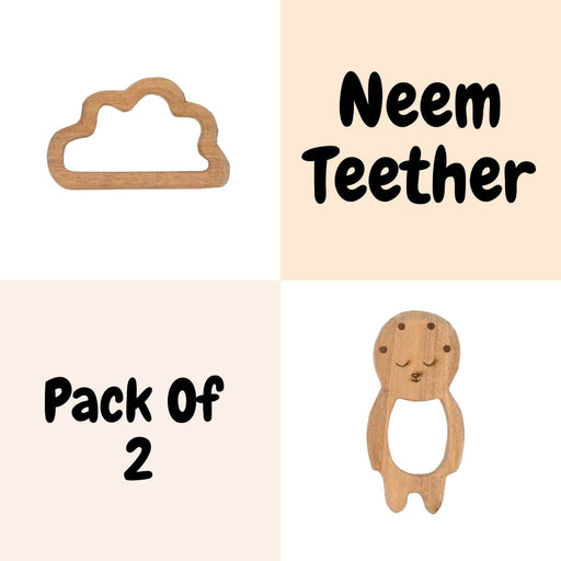 The Nestery : Wufiy - Baby And Cloud - Teether Combo + Cotton Bag