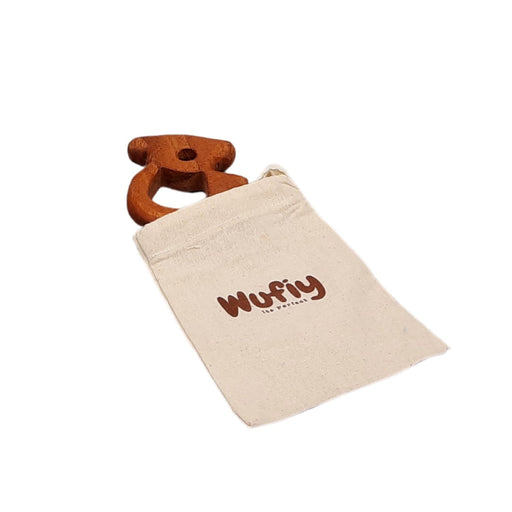 The Nestery : Wufiy - Bear - Teether + Cotton Bag