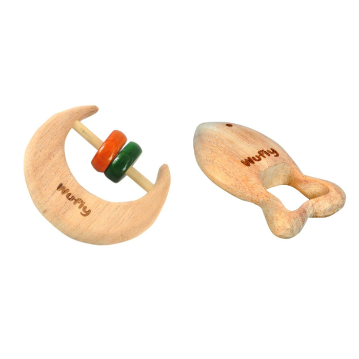 Half Moon Baby Rattle  + Fish Rattle