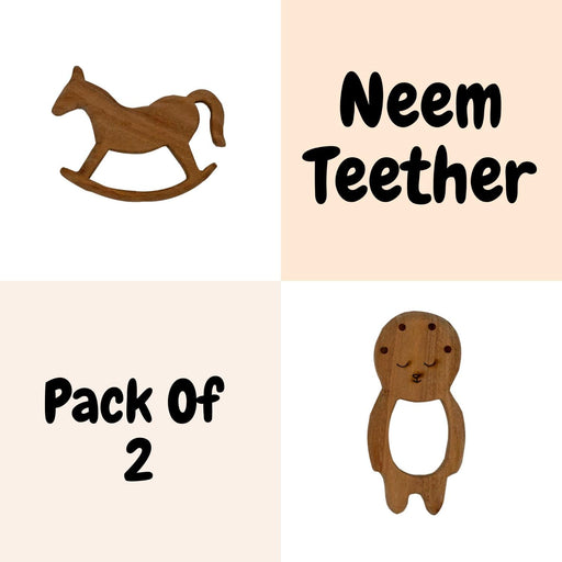 The Nestery : Wufiy - Horse And Baby - Teether Combo + Cotton Bag