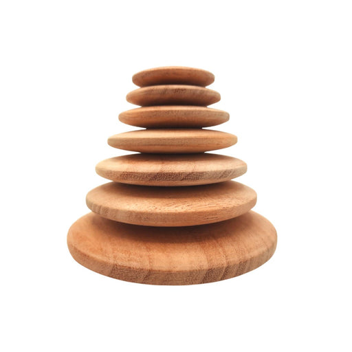 The Nestery : Wufiy - Pebble Stacking Toy - Natural Raw Finish