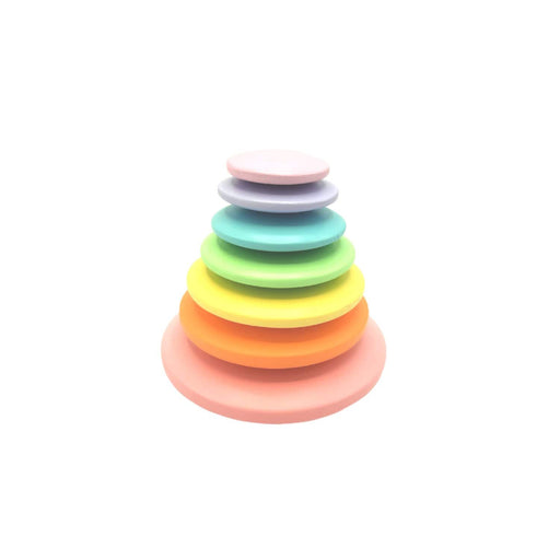The Nestery : Wufiy - Pebble Stacking Toy - Pastel Rainbow