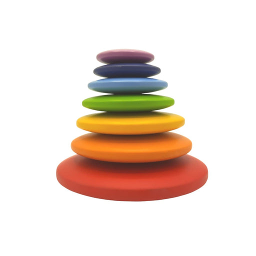 The Nestery : Wufiy - Pebble Stacking Toy - Rainbow