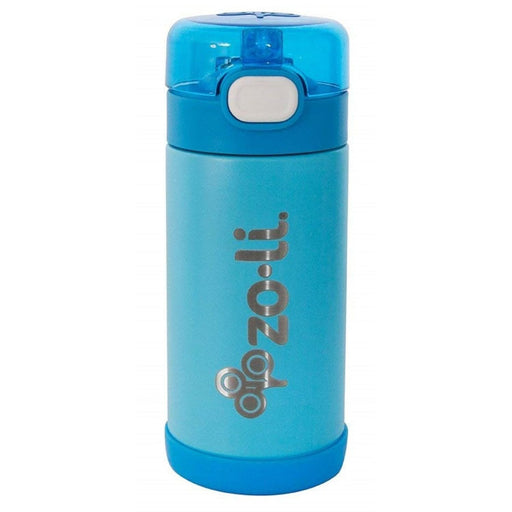The Nestery: Zoli Usa - Pow Squeak Vacuum Insulated Straw Drink Bottle - Blue - 295 Ml