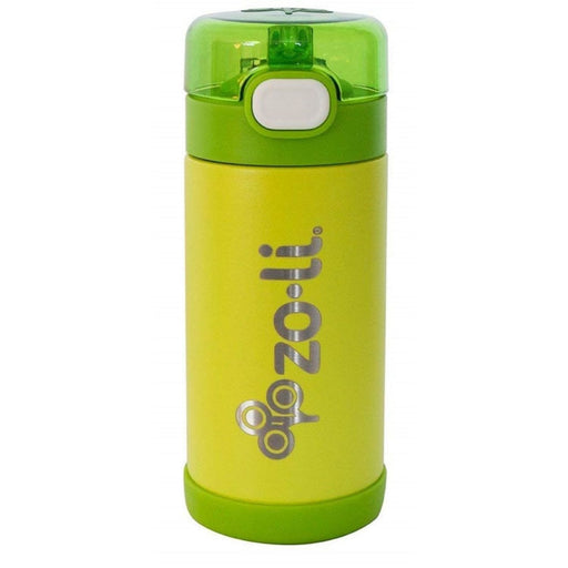 The Nestery: Zoli Usa - Pow Squeak Vacuum Insulated Straw Drink Bottle - Green - 295 Ml