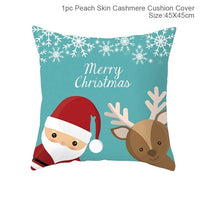 45x45cm Cotton Christmas Pillow Cover