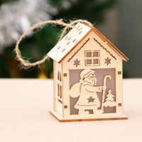 LED Wooden Christmas House Decor