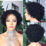 TS madison Wig 13X4 Lace Frontal Wig Short Bob Pixie XX02 Wig Curl