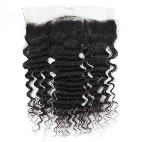 Brazilian Hair Bundles (3pcs) + Lace Frontal (1pc) Deep Wave